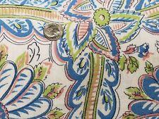 Best Vintage Feedsack Quilt Fabric 40s Tropical Floral Blue Lime + Flour Sack