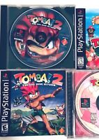 Tomba 2: The Evil Swine Return Sony PlayStation 1 2000 Black Label Complete PS1