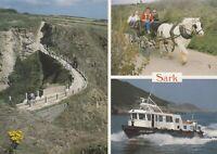 Postcard - Sark - 3 Views