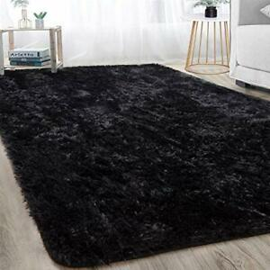 junovo Super Soft Velvet Shag Area Rug Modern Indoor Fluffy Rugs, Cute Furry