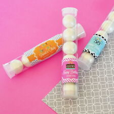 24 Birthday Theme Personalized Candy Tubes Birthday Party Favors