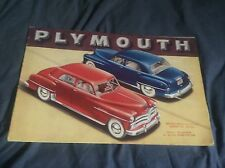 1950 Plymouth Speciale Deluxe Grande Colore Brochure Prospekt