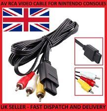 Av Rca Audio Video Cable TV Plomo Para SUPER NINTENDO SNES N64 64 GAMECUBE Consola