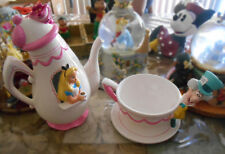 Disney Alice in Wonderland Teapot Tea Set Mad Hatter Cheshire Cat RARE
