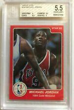 1984-85 Star Olympic 6 card Set. Michael Jordan #195 graded 5.5, EX+