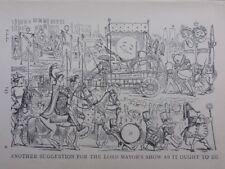 Londres & rimé vie suggestion pour Lord Maire show antique punch Cartoon
