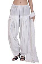 Punjabi Patiala Salwar Indian Ethnic Ready to wear Cotton White Pants Women Wear