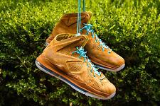 Nike LeBron 10 X EXT Hazelnut Brown Suede sz 9.5 NEW 2013 607078-200 cork black