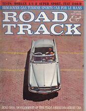 Road & Track Magazine July 1963 Fiat 1100-D - Dual Ghia - Morgan 4/4 - Le Mans