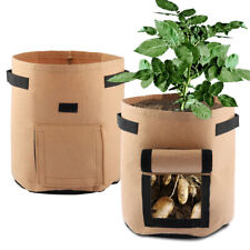 2Pcs Potato Grow Bags, Planter Bags with Access Flap for Planting Vegetables