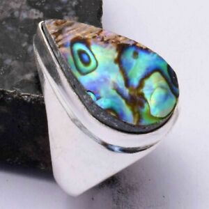 Abalone Shell Ethnic Handmade Men's Ring Jewelry US Size-9.25 AR 44095
