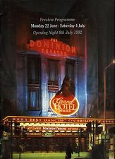 "Liliane Montevecchi ""GRAND HOTEL"" Brent Barrett 1992 London Preview Program"