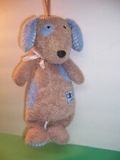Carter'S Musical Crib Pull Brown Puppy Dog Blue Spots Ears Gingham Paws Htf Euc