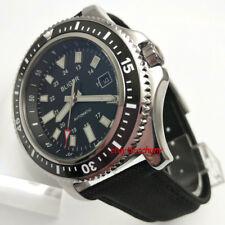 44mm bliger black dial ceramic bezel luminous Automatic mens Date Watch 2604