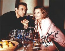 Sean Connery & Honor Blackman signed Goldfinger 8X10 photo. Proof James Bond 007