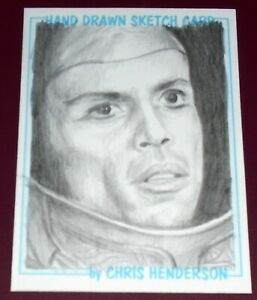 ACEO Sketch Card by Chris Henderson - Teal'c from Stargate