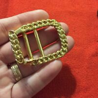 Vtg 80s Style Belt Gold Plated Metal Buckle Replacement