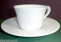 Wedgwood NATURE Tea Cup & Saucer Embossed Flora White English Bone China New