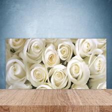 Crédence de cuisine en verre Panneau Paroi 100x50 Floral Roses