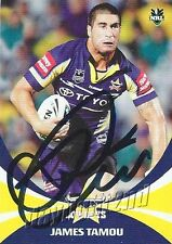 ✺Signed✺ 2011 NORTH QUEENSLAND COWBOYS NRL Card JAMES TAMOU Daily Telegraph