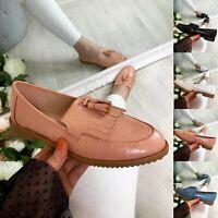 Womens Loafers Ladies Pumps Boat Slip On Flats Work Tassel School Comfy Shoes