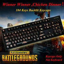 108 PUBG Keycap Playerunknown's Battlegrounds Backlit for Mechanical Keyboards