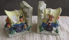 covered wagon western musical bookends felt bottom Resin Child's room decor