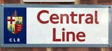 central line london underground? metal sign