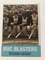 1963 Topps #18 BUC BLASTERS Clemente / Burgess / Stuart / Skinner PA Pirates
