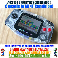 Nintendo Game Boy Advance GBA NES System AGS 101 Brighter Backlit Mod SWITCH!