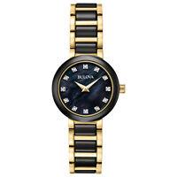 Bulova Diamond Women's 98P159 Quartz Two-Tone Ceramic and Stainless Steel Watch
