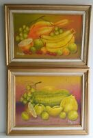 HAITIAN ART SET OF TWO OIL PAINTING CANVAS STILL LIFE 2009 SIGNED HAITIAN ARTIST