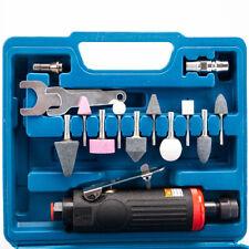 "Air Compressor Die Grinder Grinding Polish Stone Tool Kit 1/4"" 1/8"" Collet 90PSI"