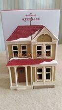 Hallmark 2013 Victorian Dollhouse Artist Signing Rare Repaint Christmas Ornament