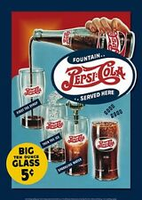 Fountain Pepsi Cola Sold Here TIN SIGN Vintage Metal Poster Wall Decor Ad