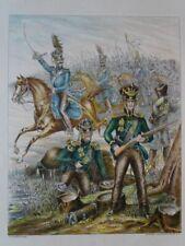 Dragoner Reg. Prinz Wilhelm v. Preussen Uniform Wühlisch Photolithographie 1898