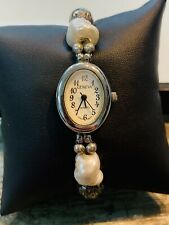 """Sterling silver Ladies Watch, Fresh Water Pearls, 8"""", Free Shipping"""