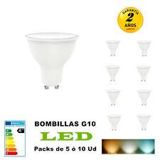 Bombillas LED GU10 7w Equivalente a 70W 580LM No Regulable Pack 5 /10 Unidades
