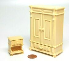 Playmobil Victorian Dollhouse Bedroom Yellow Nightstand Armoire Furniture 5321