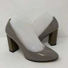 Kate Spade New York Italy Gray Leather Pumps Heels Wood Women's 8.5 B