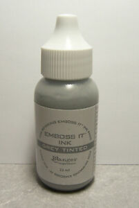 Ranger GREY Tinted EMBOSSING INK Re-Inker Refill for Emboss It Stamp Pad