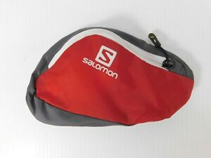 Salomon Small pouch belt (no belt included) Gray Red hiking running exercise