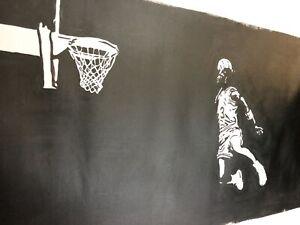 Michael Jordan Chicago Bulls Last dance 40x16inch oil painting. Not a print.