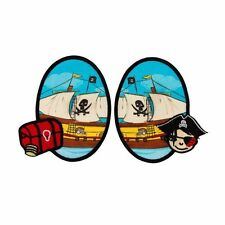 Applikationen Aufbügler Aufnäher Applikation Flicken Piratenschiff 2 St. MO14167
