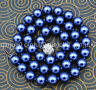 """Noble 10mm blue South Sea Shell Pearl Necklace 18"""" JN2226"""