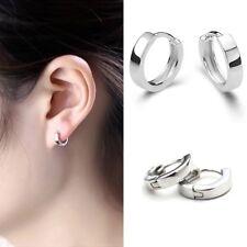 New Stainless Steel Silver Womens Girls Small Round Loop Hoop Earrings