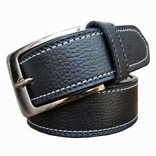 Men's Formal Belt Black color two side stitching with Free Shipping