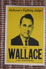 George C. Wallace For Governor of Alabama campaign poster 1962