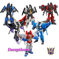 "4.3"" Transformer G1 Starscream MP-11 Decepticons F-02 & F-01 Figure Action Box"
