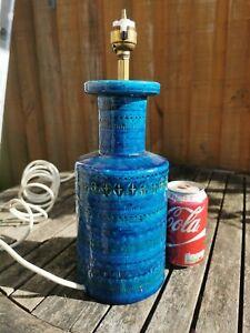 Bitossi Rimini Blue Lamp Mid-century Vintage Aldo Londi